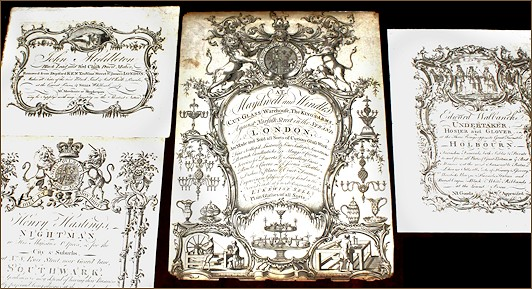 Image of 18th century trade cards